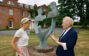 Martha Lane-Fox with sculpture featured on BBC2
