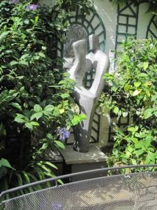 Accord aluminium garden sculpture