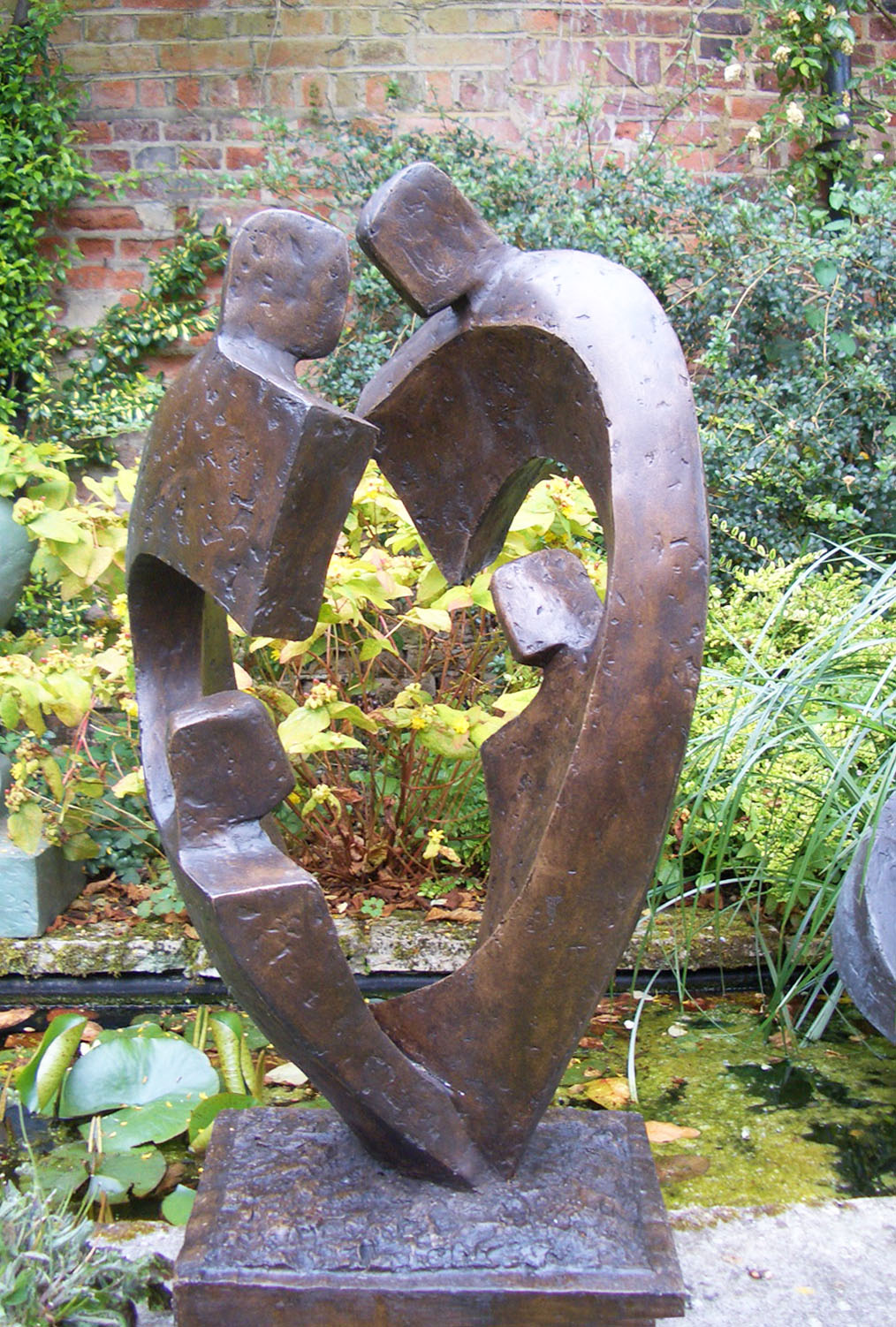 Family Circle Lll Garden Sculpture By Pond John Brown Sculptor